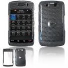 Hard Plastic Design Faceplate Case Cover for Blackberry Storm 2 9550 - Black Carbon Fiber