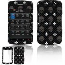 Hard Plastic Design Faceplate Case Cover for Blackberry Storm 2 9550 - Black Skulls