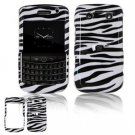 Hard Plastic Shield Protector Faceplate Case for BlackBerry Bold 2 9700 - Black/White Stripes