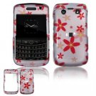 Hard Plastic Shield Protector Faceplate Case for BlackBerry Bold 2 9700 - Flowers