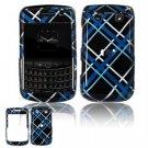 Hard Plastic Shield Protector Faceplate Case for BlackBerry Bold 2 9700 - Light Blue Black
