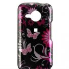 Hard Plastic Crytal Shield Cover Case for HTC Droid Eris (Verizon) - Pink Butterfly