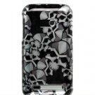 Hard Plastic Design Faceplate Case Cover for HTC Imagio - Black Skulls
