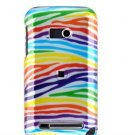 Hard Plastic Design Faceplate Case Cover for HTC Imagio - Rainbow Stripes