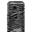Hard Plastic Design Faceplate Case Cover for HTC Imagio - Silver/Black Stripes