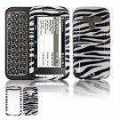Hard Plastic Design Faceplate Case Cover for HTC Touch Pro 2 (Sprint) - Black/White Stripes