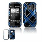 Hard Plastic Design Faceplate Case Cover for HTC Touch Pro 2 (Sprint) - Light Blue/Black Plaid