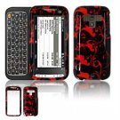 Hard Plastic Design Faceplate Case Cover for HTC Touch Pro 2 (Sprint) - Red/Black