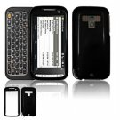 Hard Plastic Glossy Faceplate Case Cover for HTC Touch Pro 2 (Sprint) - Black