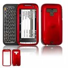 Hard Plastic Glossy Faceplate Case Cover for HTC Touch Pro 2 (Sprint) - Dark Red