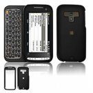 Hard Plastic Rubber Feel Faceplate Case Cover for HTC Touch Pro 2 (Sprint) - Black