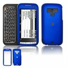 Hard Plastic Rubber Feel Faceplate Case Cover for HTC Touch Pro 2 (Sprint) - Blue
