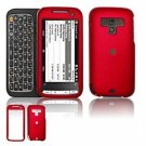 Hard Plastic Rubber Feel Faceplate Case Cover for HTC Touch Pro 2 (Sprint) - Dark Red