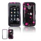 Hard Plastic Design Faceplate Case Cover for HTC Touch Pro 2 (T-Mobile) - Black/Pink Stars