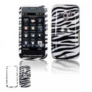 Hard Plastic Design Faceplate Case Cover for HTC Touch Pro 2 (T-Mobile) - Black/White Stripes