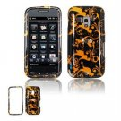Hard Plastic Design Faceplate Case Cover for HTC Touch Pro 2 (T-Mobile) - Gold Black