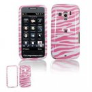 Hard Plastic Design Faceplate Case Cover for HTC Touch Pro 2 (T-Mobile) - Pink/White Stripes