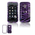 Hard Plastic Design Faceplate Case Cover for HTC Touch Pro 2 (T-Mobile) - Purple/Black Stripes