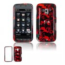 Hard Plastic Design Faceplate Case Cover for HTC Touch Pro 2 (T-Mobile) - Red/Black