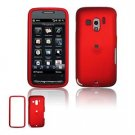 Hard Plastic Rubber Feel Faceplate Case Cover for HTC Touch Pro 2 (T-Mobile) - Dark Red