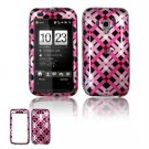 Hard Plastic Design Faceplate Case Cover for HTC Touch Pro 2 (Verizon) - Pink/Black