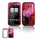 Hard Plastic Design Faceplate Case Cover for HTC Touch Pro 2 (Verizon) - Red Hearts