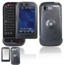 Hard Plastic Design Cover Case for LG Tritan AX840 - Black Carbon Fiber
