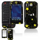 Hard Plastic Design Cover Case for LG Tritan AX840 - Black/Yellow Stars