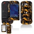 Hard Plastic Design Cover Case for LG Tritan AX840 - Gold/Black
