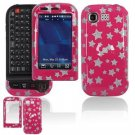 Hard Plastic Design Cover Case for LG Tritan AX840 - Pink/Silver Stars