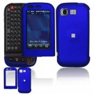 Hard Plastic Rubber Feel Cover Case for LG Tritan AX840 - Dark Blue