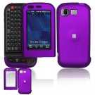 Hard Plastic Rubber Feel Cover Case for LG Tritan AX840 - Purple