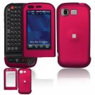 Hard Plastic Rubber Feel Cover Case for LG Tritan AX840 - Rose Pink