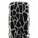 Hard Plastic Design Faceplate Case Cover for Motorola Cliq - Black Giraffe