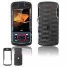 Hard Plastic Design Faceplate Case Cover for Motorola Debut i856 - Black Carbon Fiber