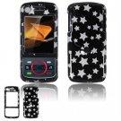 Hard Plastic Design Faceplate Case Cover for Motorola Debut i856 - Black/Silver Stars
