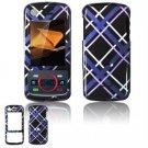Hard Plastic Design Faceplate Case Cover for Motorola Debut i856 - Dark Blue/Black