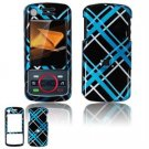 Hard Plastic Design Faceplate Case Cover for Motorola Debut i856 - Light Blue/Black
