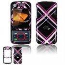 Hard Plastic Design Faceplate Case Cover for Motorola Debut i856 - Pink/Black