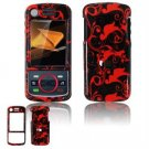 Hard Plastic Design Faceplate Case Cover for Motorola Debut i856 - Red/Black
