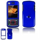 Hard Plastic Glossy Faceplate Case Cover for Motorola Debut i856 - Blue