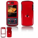 Hard Plastic Glossy Faceplate Case Cover for Motorola Debut i856 - Red