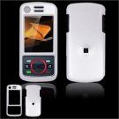 Hard Plastic Glossy Faceplate Case Cover for Motorola Debut i856 - White