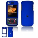 Hard Plastic Rubber Feel Faceplate Case Cover for Motorola Debut i856 - Blue