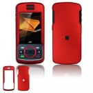 Hard Plastic Rubber Feel Faceplate Case Cover for Motorola Debut i856 - Dark Red