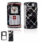 Hard Plastic Design Faceplate Case Cover for Samsung Comeback T559 - Dark Blue/Black Tartan Plaid