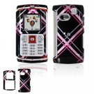 Hard Plastic Design Faceplate Case Cover for Samsung Comeback T559 - Pink/Black Tartan Plaid