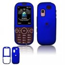 Hard Plastic Rubber Feel Faceplate Case Cover for Samsung Gravity 2 T469 - Dark Blue