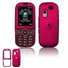 Hard Plastic Rubber Feel Faceplate Case Cover for Samsung Gravity 2 T469 - Rose Pink