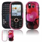 Hard Plastic Design Faceplate Case Cover for Samsung Intensity U450 - Red Hearts